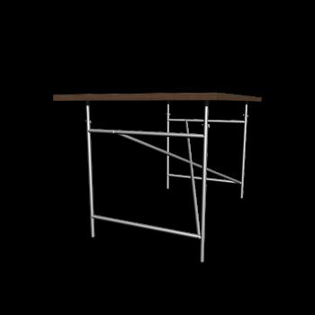 Egon Eiermann 1 Tischgestell  blau von Richard Lampert