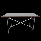 Egon Eiermann 2 Tischgestell  weiß für die 3D Raumplanung