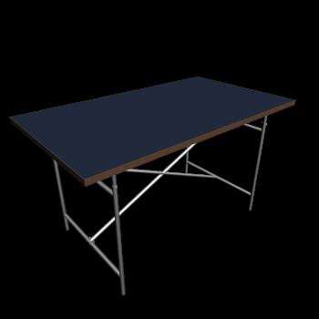 Egon Eiermann 2 Tischgestell  carbon von Richard Lampert