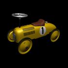Metal ride-on racing car von