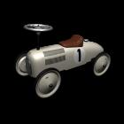 Metal ride-on racing car by