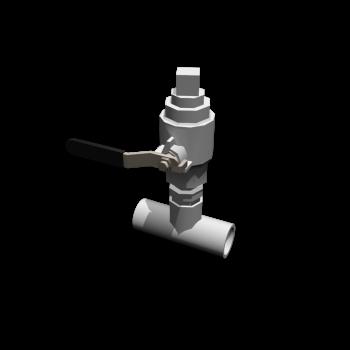 Rohr T-Stück mit Ventil