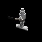 Rohr T-Stück mit Ventil für die 3D Raumplanung