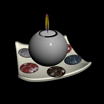 Schale mit Kerze