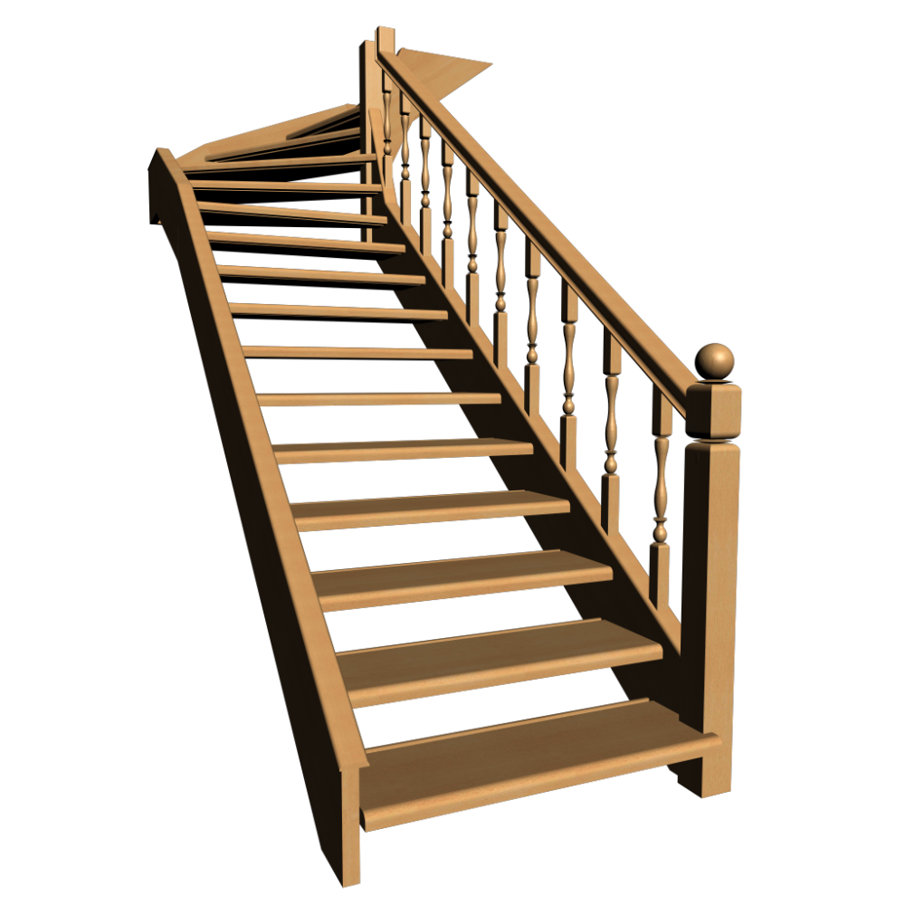 Single Winder Stairs Design And Decorate Your Room In 3d