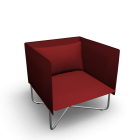 Groove armchair for your 3d room design
