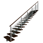 Stairs right handrail for your 3d room design