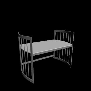 Care Schreibtisch groß grau von Stokke