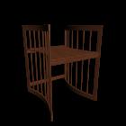 Care Schreibtisch Wallnuss für die 3D Raumplanung