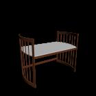 Care Schreibtisch groß Wallnuss für die 3D Raumplanung
