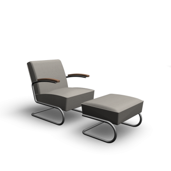 S 411 + S 411 H Sessel + Hocker von Thonet