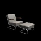 S 411 + S 411 H Sessel + Hocker für die 3D Raumplanung