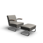 S 411 + S 411 H Armchair + Ottoman for your 3d room design