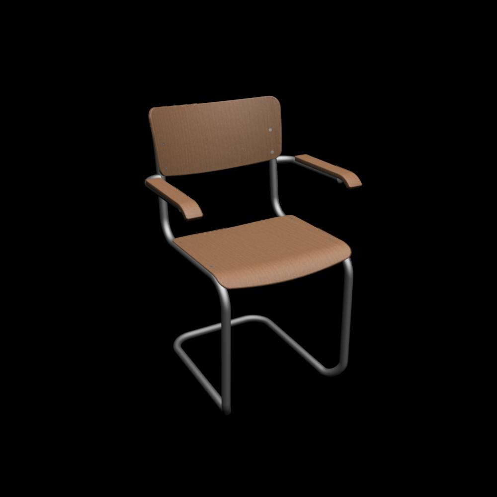 thonet s 43 f mit armlehnen einrichten planen in 3d. Black Bedroom Furniture Sets. Home Design Ideas