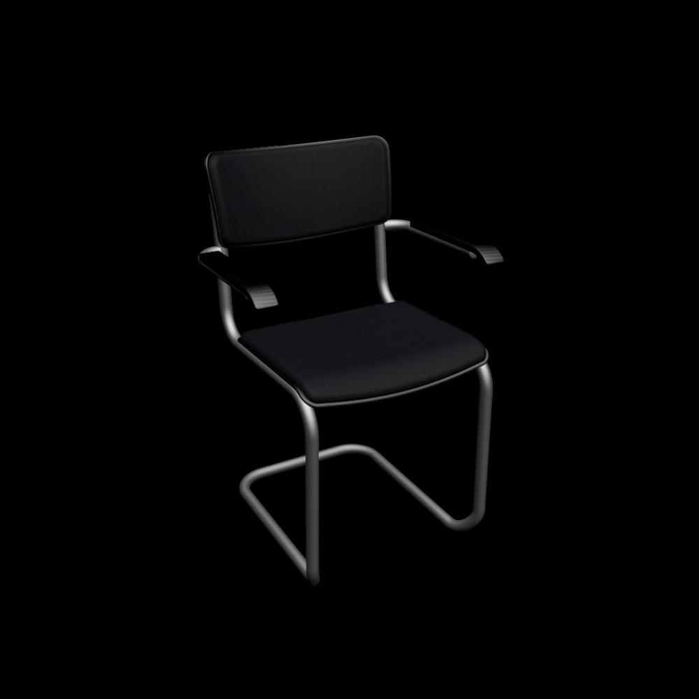 thonet s 43 pvf mit armlehnen gepolstert einrichten planen in 3d. Black Bedroom Furniture Sets. Home Design Ideas