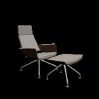 S 850 Sessel + Hocker von Thonet