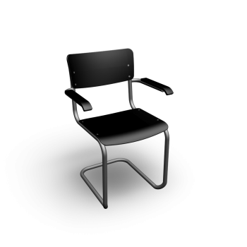 Thonet S 43 with armrests by Thonet