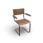 Thonet S 43 with armrests for your 3d room design