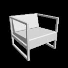 Lounge Sessel Casablanca für die 3D Raumplanung