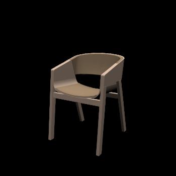 Stuhl Merano mit Polsterung von TON