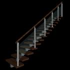 Treppe einläufig rechts
