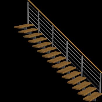 Treppe einläufig