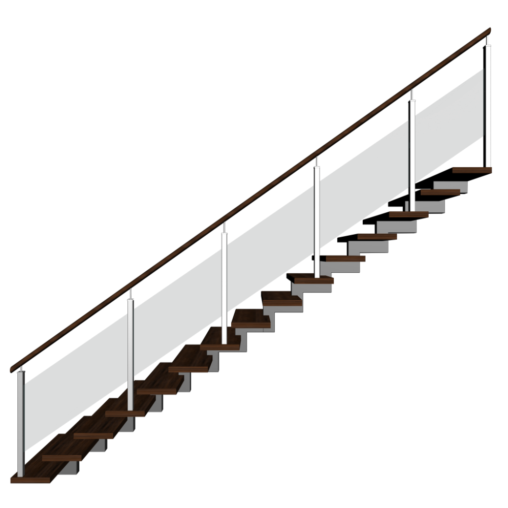 treppe einl ufig rechts einrichten planen in 3d. Black Bedroom Furniture Sets. Home Design Ideas