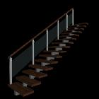 Treppe einläufig links