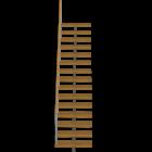 Treppe einläufig für die 3D Raumplanung