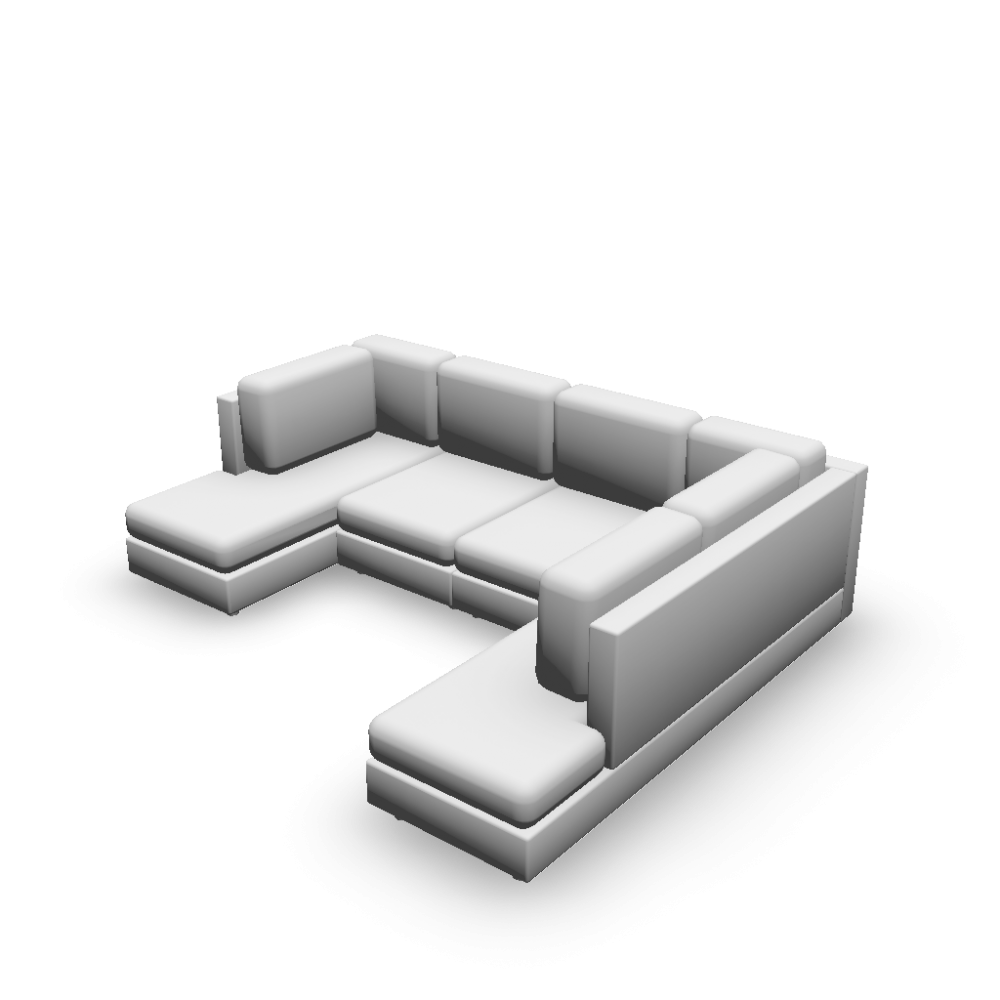 U form couch einrichten planen in 3d for Couch u form klein