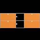 Vitrinen-Sideboard - M von USM