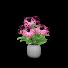 Vase mit Blumen für die 3D Raumplanung