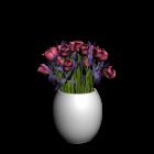 Vase mit Tulpen für die 3D Raumplanung