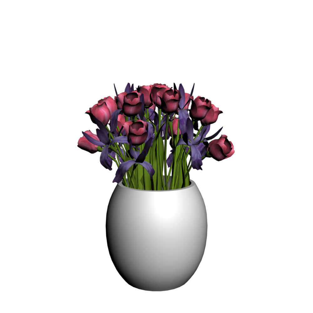 vase mit tulpen einrichten planen in 3d. Black Bedroom Furniture Sets. Home Design Ideas