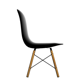Eames plastic side chair dsw design and decorate your room in 3d - Chaises polycarbonate transparent ...