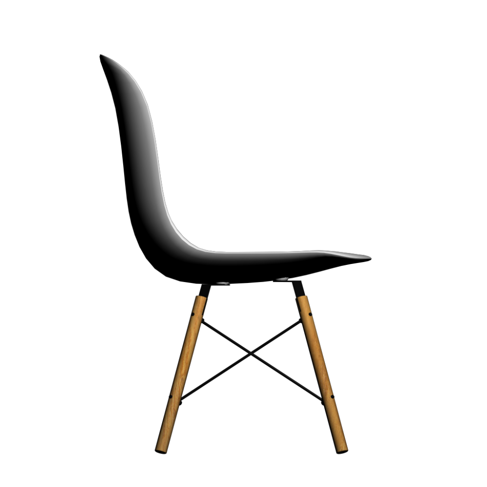 Eames plastic side chair dsw design and decorate your room in 3d - Chaises plastique transparent ...