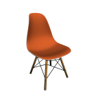 Eames Plastic Side Chair DSW with full upholstery by Vitra