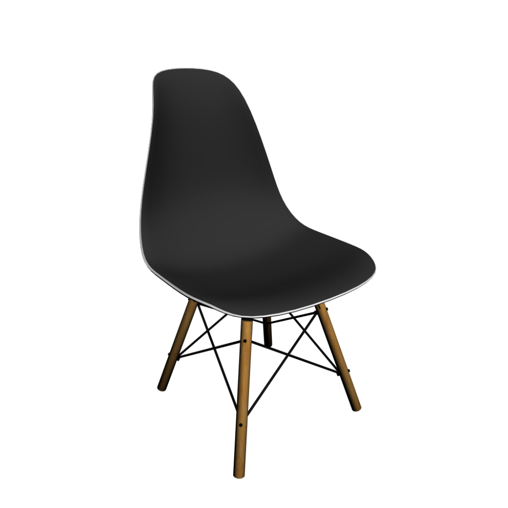 eames plastic side chair dsw with full upholstery design. Black Bedroom Furniture Sets. Home Design Ideas