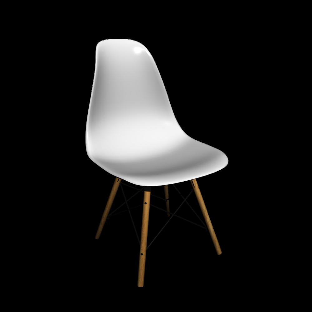 Eames Plastic Side Chair DSW - Einrichten & Planen in 3D