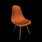 Eames Plastic Side Chair DSW mit Vollpolster für die 3D Raumplanung