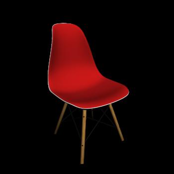 Eames Plastic Side Chair DSW mit Vollpolster von Vitra