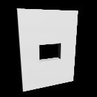 Wand mit Durchreiche für die 3D Raumplanung