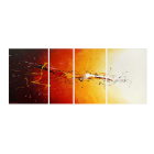 Fiery Splash 170 x 70 cm canvas drawing by WandbilderXXL