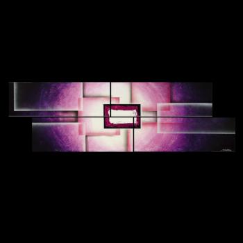 Purple Sun 200 x 60 cm Leinwandbild von WandbilderXXL