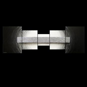 Silver Bar 210 x 70 cm Leinwandbild von WandbilderXXL