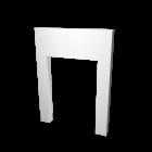 Wandelement mit Türöffnung für die 3D Raumplanung