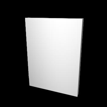 Wandelement weiß ohne Struktur