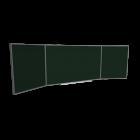 Wandtafel mit zwei Flügeln für die 3D Raumplanung