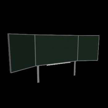 Wandtafel mit zwei Flügeln