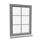 Window with glazing bar
